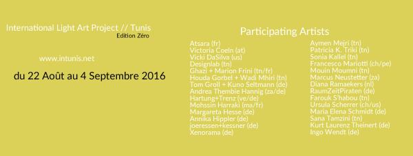 Liste des artistes qui participeront au festival INTERFERENCE