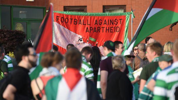 Le public du Celtic dénonce l'apartheid israélien