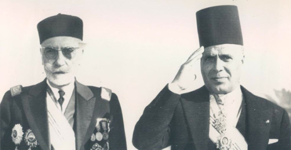 Lamine Bey et Habib Bourguiba