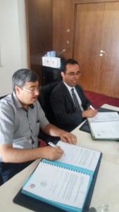 M.Nizar Bouguila avec le président de l'amicale de la faculté de medecine de Sousse