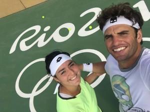 Ons Jabeur et Malek Jaziri à Rio / Crédit : Page FB, Ons Jabeur