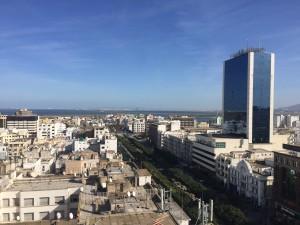 Sur les hauteurs du hôtel El Hana à Tunis