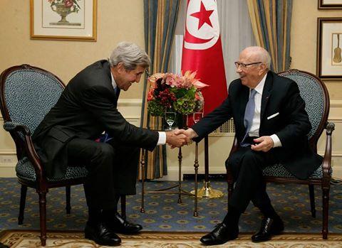 John Kerry et Béji Caid Essebsi