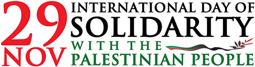 Le 29 novembre est la Journée Internationale de Solidarité avec le Peuple Palestinien