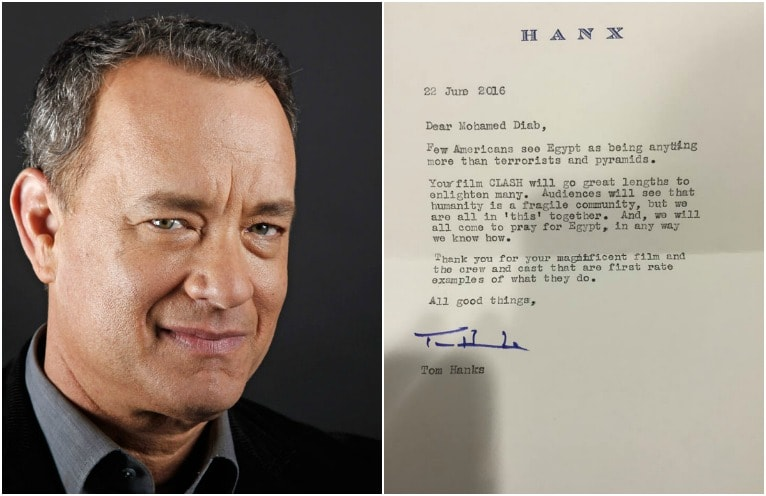 Lettre de félicitation de Tom Hanks à Mohamed Diab