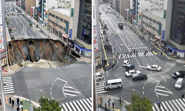 Japon. Le trou géant de Fukuoka comblé en une semaine