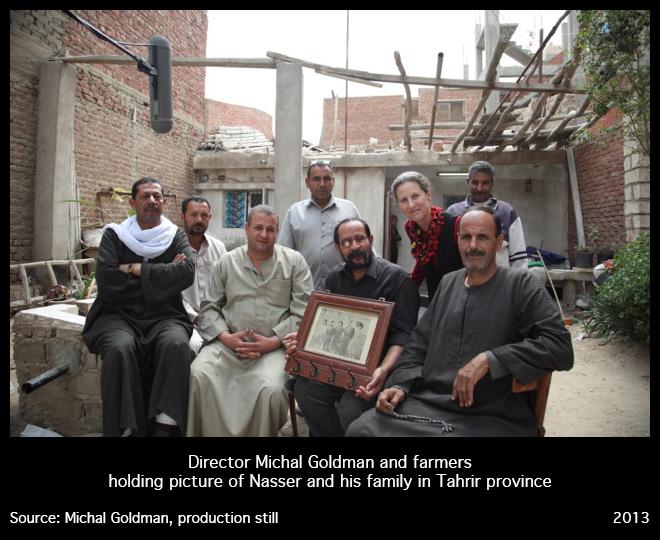 Michal Goldman avec la famille de Nasser