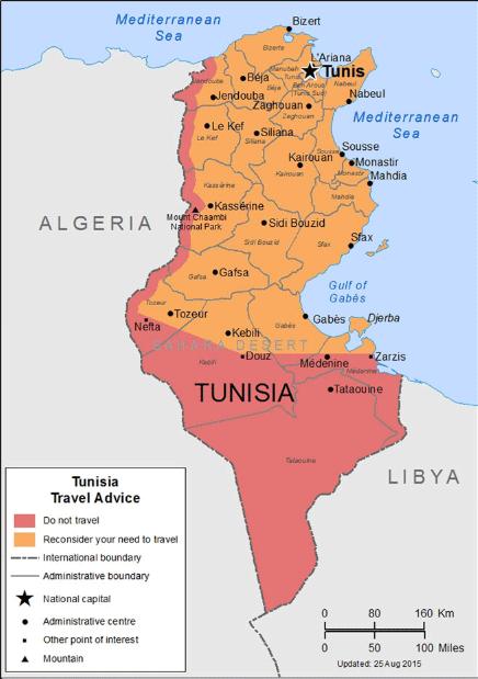 voyage tunisie deconseille