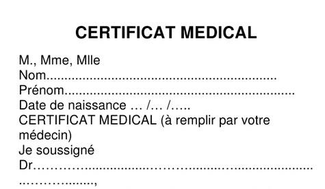 """Résultat de recherche d'images pour """"certificat médical"""""""