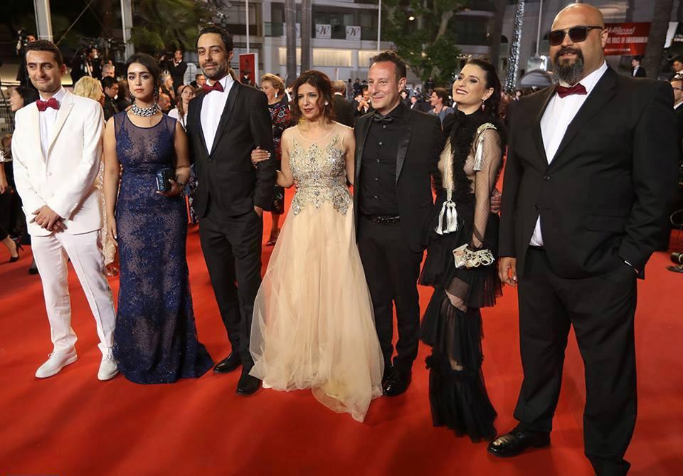 L'équipe du film La Belle et la Meute à Cannes