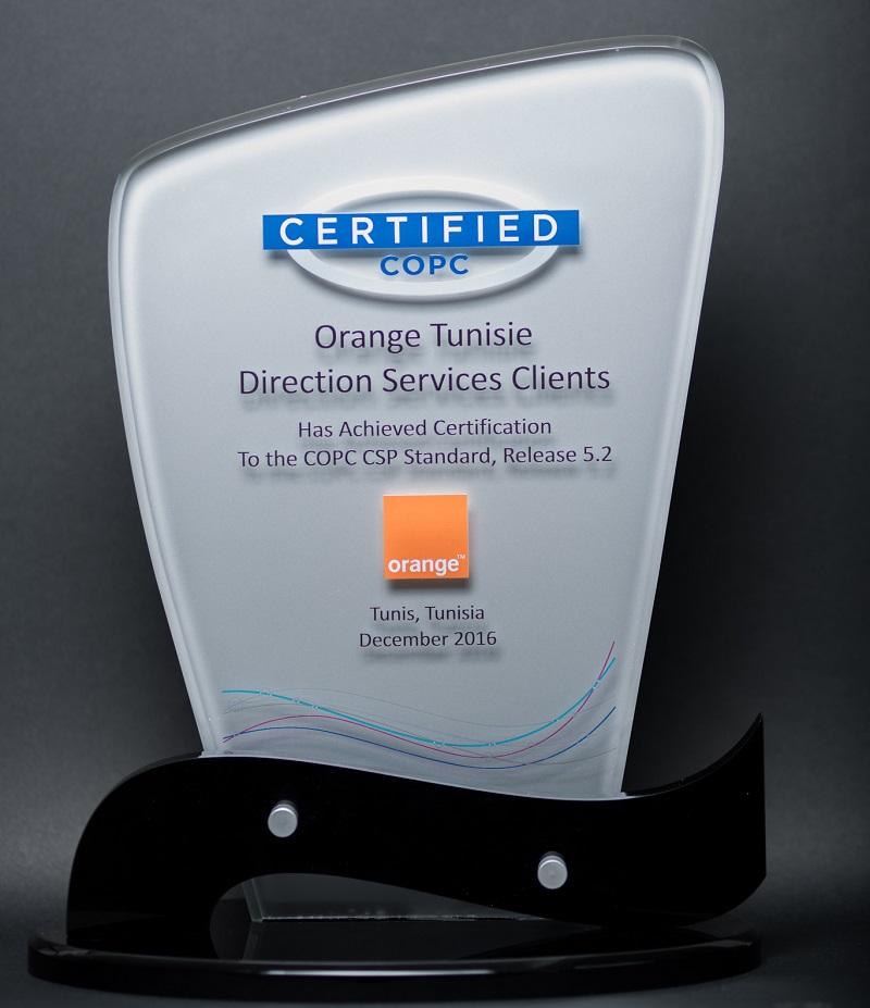 Le Service Client Orange Tunisie Dcroche La 1re Certification Copc