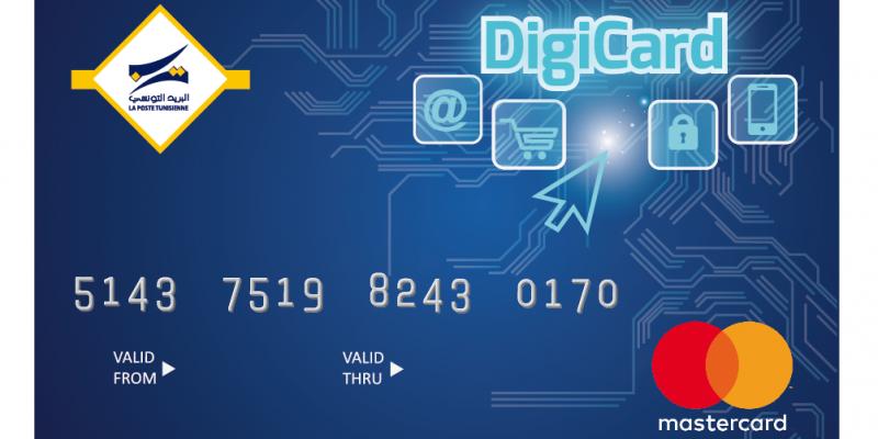 """Exceptionnel Lancement de la nouvelle Carte prépayée """"DigiCard"""" par la Poste  HP44"""