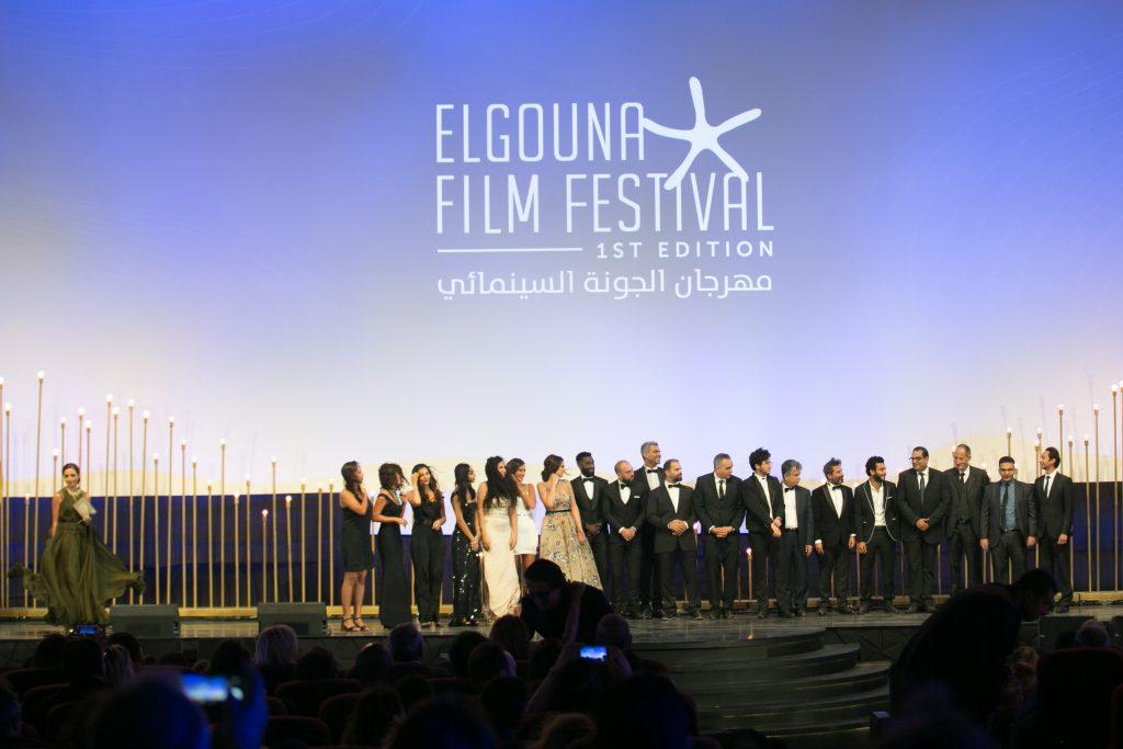 "L'équipe du film ""Sheikh Jackson"" au Festival du Film d'El Gouna"