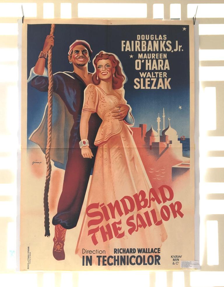 "Douglas Fairbanks dans le film ""Sindbad le marin""."