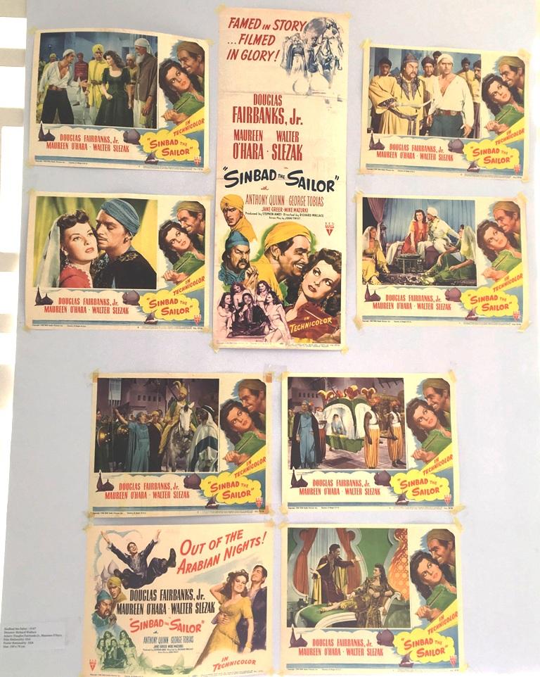 """Douglas Fairbanks Jr et Maureen O'Hara dans le film """"Sindbad le marin"""""""
