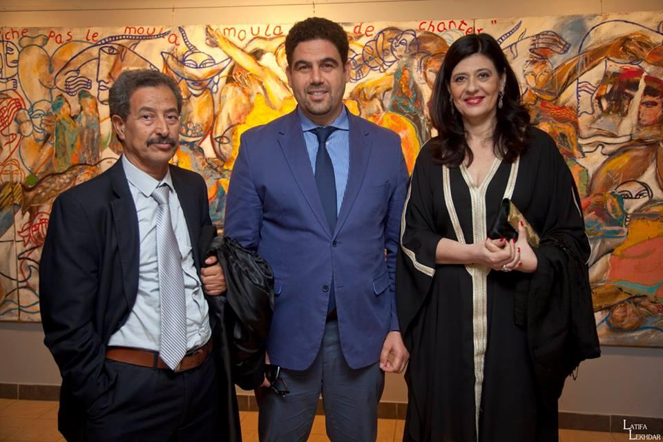 Mahmoud Jemni, Hamed ben Brahim et Neila Driss lors de la cérémonie d'ouverture du CinéAlma