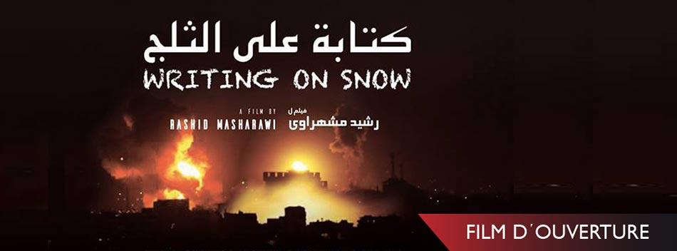 Affiche du film Ecrire sur la neige