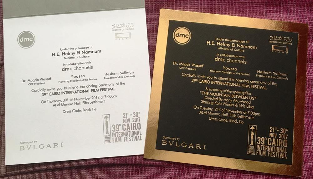 Les invitations aux cérémonies d'ouverture et de clôture du CIFF
