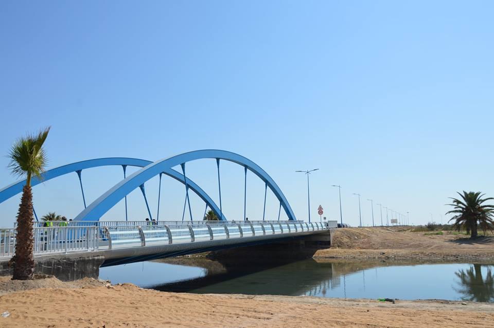 inauguration des deux ponts m talliques reliant tunis la rn z4. Black Bedroom Furniture Sets. Home Design Ideas
