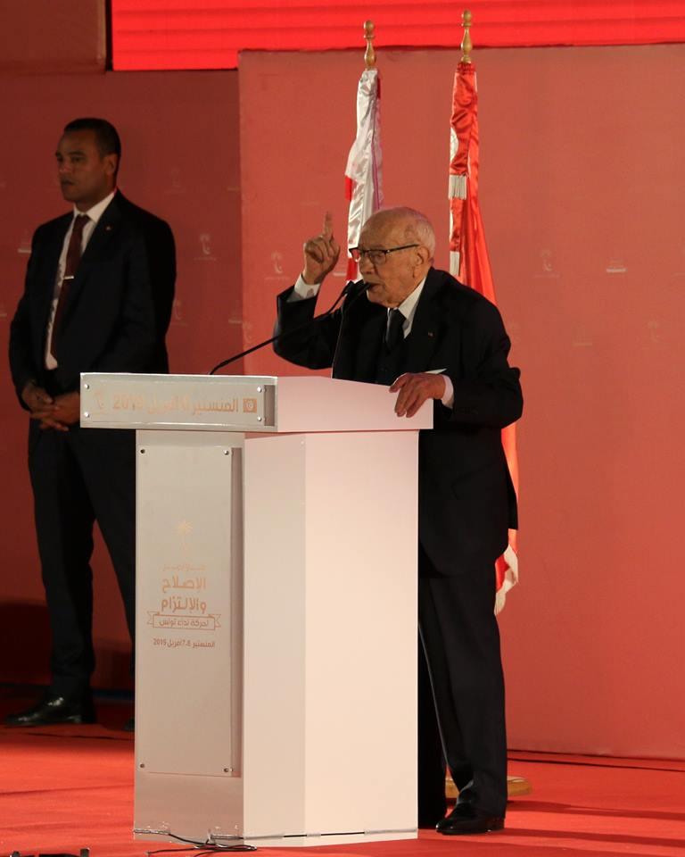 Caïd Essebsi appelle au retour de Chahed — Congrès de Nidaa