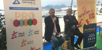Conférence de presse des JCC 2019 au Pavillon tunisien - Cannes