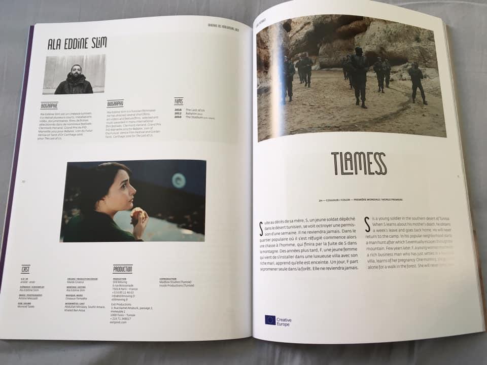 Tlamess sur le catalogue de la Quinzaine des réalisateurs 2019
