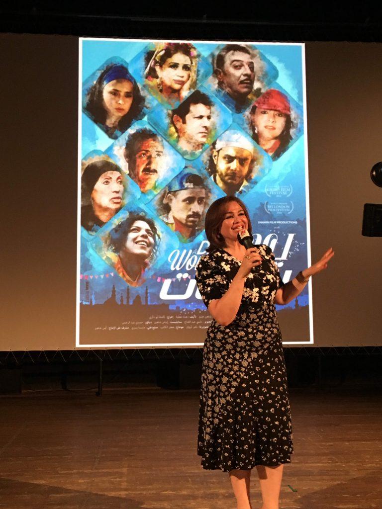Manarat - Ilham Chahine lors du débat qui a suivi la projection de son film Un jour pour les femmes