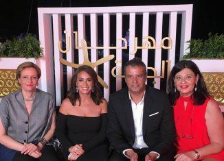 GFF 2019 - Hinde Boujemaa, Hend Sabry, Hakim Boumsaoudi et Neila Driss après la projection du film Noura rêve.