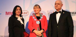 MAFF 2019 - Mouhammad Keblawi, président du festival, son épouse et Carina Nilsson, maire de Malmö